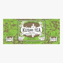 Thé vert gingembre-citron boîte de 20 sachets Kusmi Tea