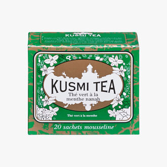Spearmint Green Tea, box of 20 teabags Kusmi Tea