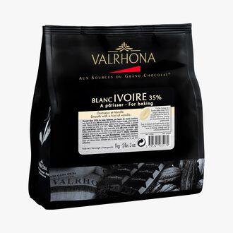 Blanc Ivoire, white cooking chocolate 35 % Valrhona