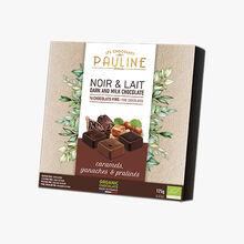 Noir & lait, 16chocolats fins, caramels, ganaches & pralinés Les Chocolats de Pauline