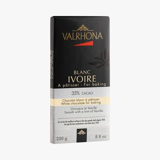 Ivoire bar, white cooking chocolate 35 % Valrhona