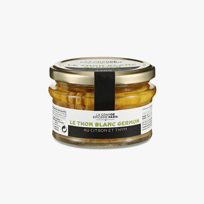 Thon blanc germon à l'huile d'olive vierge extra, au citron et au thym La Grande Épicerie de Paris