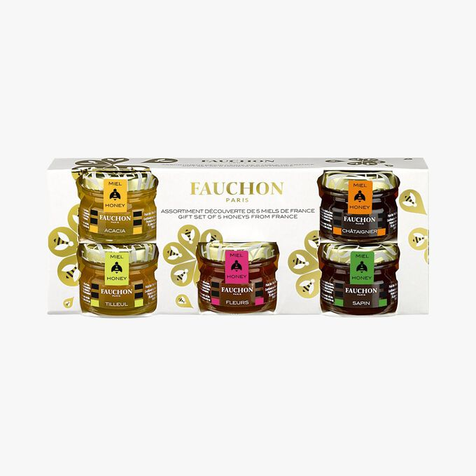 Gift set of 5 honeys from France Fauchon