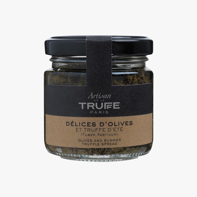Délice d'olives à la truffe d'été (Tuber aestivum) Artisan de la truffe