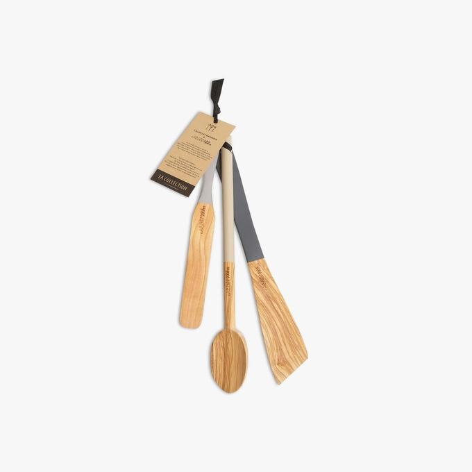 Assortiment de 3 ustensiles en bois d'olivier  La Grande Épicerie de Paris