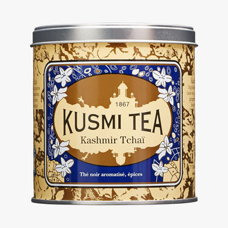 Kashmir Tchai, metal tin Kusmi Tea