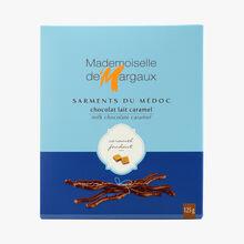 Brins de chocolat au lait aromatisé au caramel Mademoiselle de Margaux