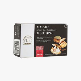 Rias Galiciennes natural Clams - 16-20 pieces El Corte Inglés - Club del Gourmet