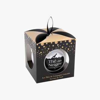 Snow Tea Bauble with pouch   Compagnie Coloniale