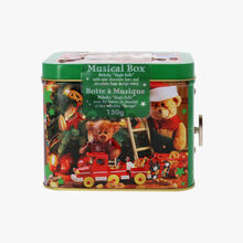 """Musical box - """"Jingle Bells"""" melody with chocolate rods and """"bear cub"""" bars.   Windel"""