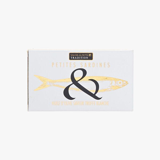 Little sardines in white truffle-flavoured olive oil Savor & Sens