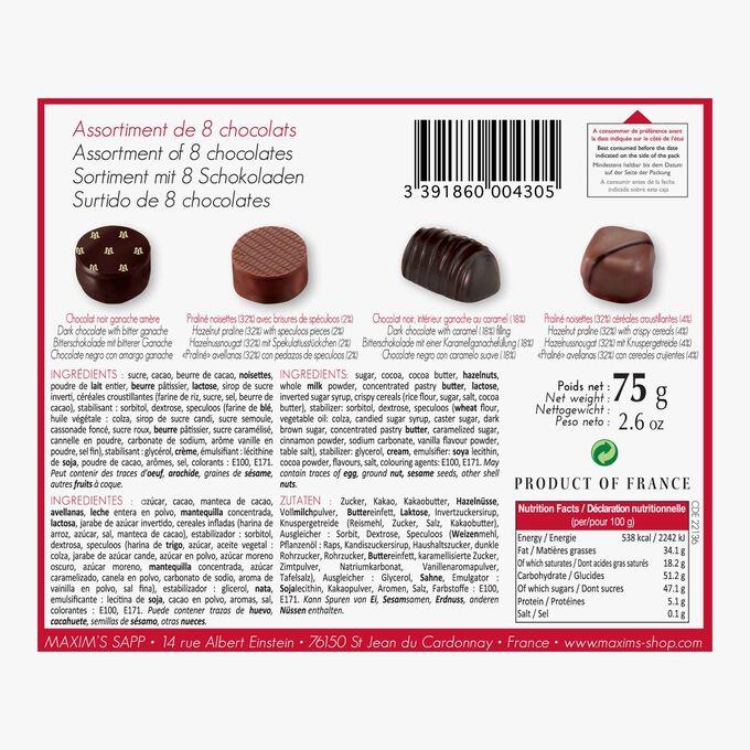 Assortment of 8 chocolates Maxim's