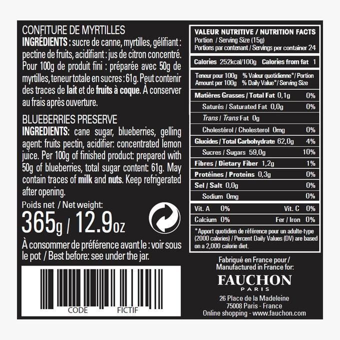 Blueberry jam Fauchon