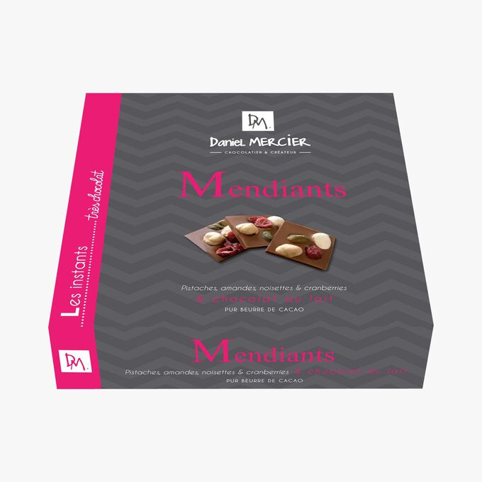 Milk chocolate mendiants Daniel Mercier