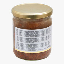 La mijotée de lentilles au confit de canard et saucisses de Toulouse Castaing
