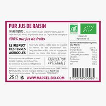 Organic pure grape juice Marcel Bio