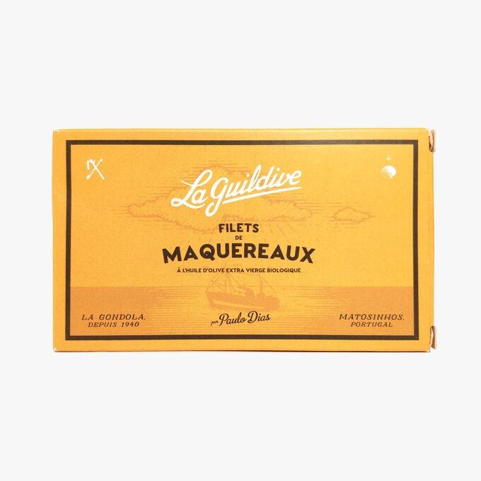 Mackerel fillets in organic extra virgin olive oil La Guildive