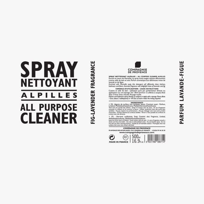 Alpilles cleaning spray Compagnie de Provence