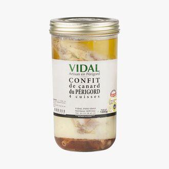 Confit de canard du Périgord - 4 cuisses Vidal