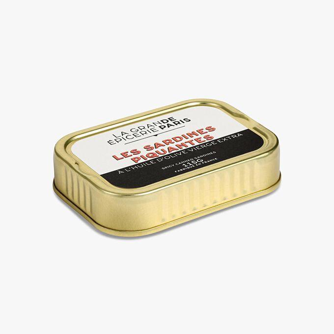 Sardines piquantes à l'huile d'olive vierge extra La Grande Épicerie de Paris