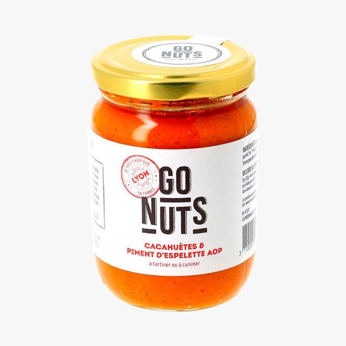 Cacahuètes & piment d'Espelette AOP à tartiner ou à cuisiner Go Nuts