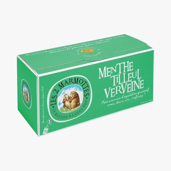 Mint, linden and verbena infusion Les 2 Marmottes