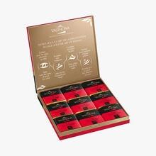 Coffret de 18 carrés de chocolat noir, Guanaja Valrhona