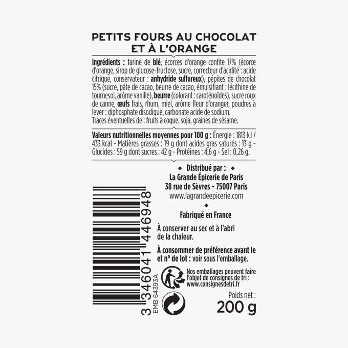 Petits fours au chocolat et à l'orange La Grande Épicerie de Paris