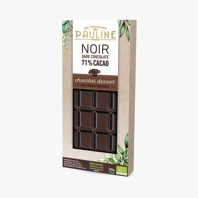 Noir 71% cacao, chocolat dessert Les Chocolats de Pauline