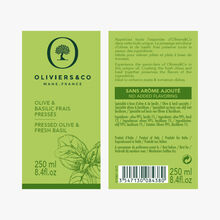 Freshly pressed Olive & Basil Oliviers & Co