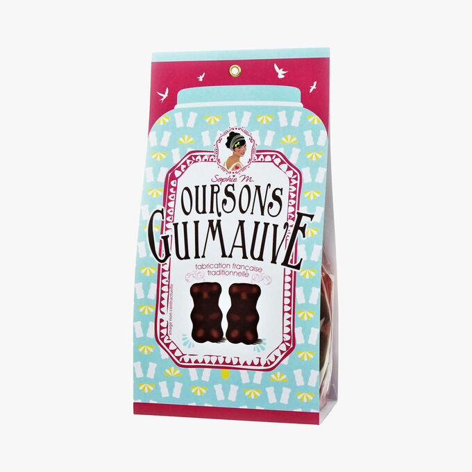 Chocolate-covered marshmallow bears Sophie M