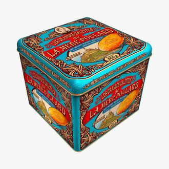 Large gift box of large galette biscuits La mère Poulard
