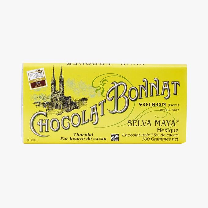 Tablette Selva Maya Mexique chocolat noir 75% de cacao Bonnat
