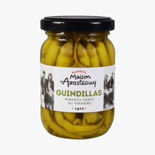 Pickled green guindilla chili peppers Maison Arosteguy