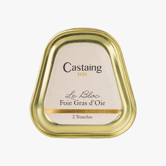 Goose foie gras block, 2 slices Castaing
