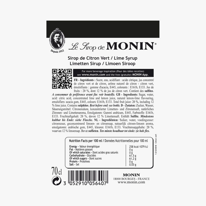 Lime cordial Monin