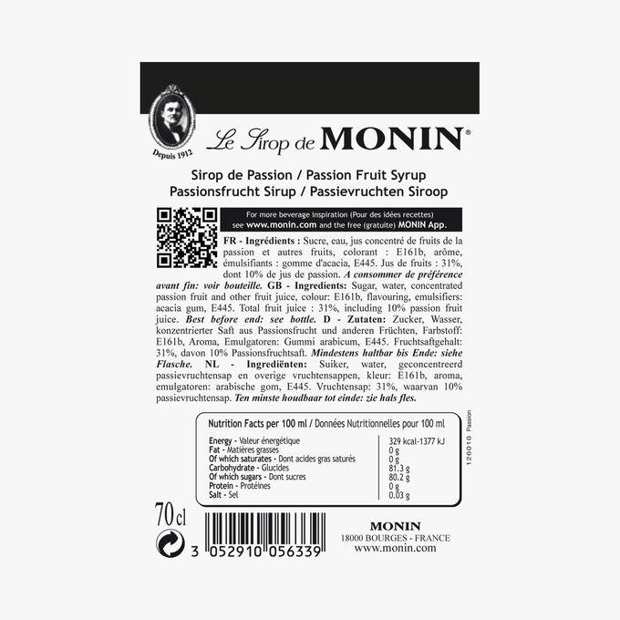 Passion fruit cordial Monin