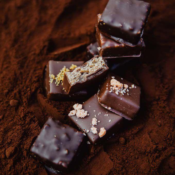 Bonbons de chocolat noir null
