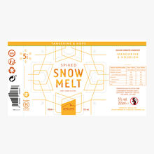 Tangerine & Hops Craft Hard Seltzer- boisson gazeuse alcoolisée Mandarine & houblon Snowmelt
