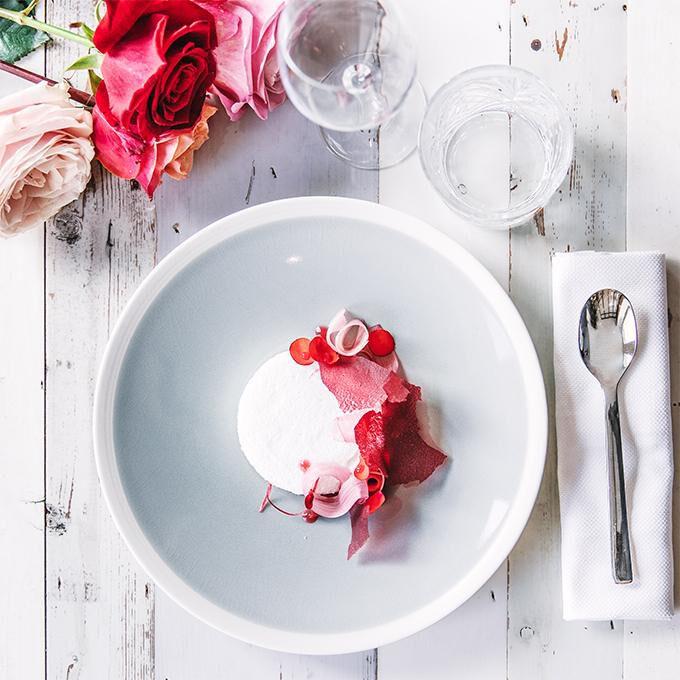 Nuage de rhubarbe aux fleurs de printemps Recette proposée par Beatriz Gonzalez