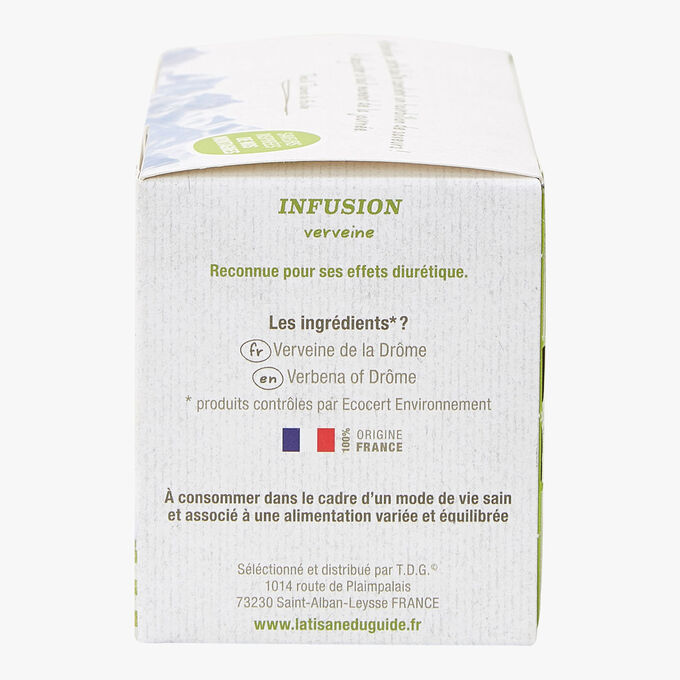 Infusion verveine - 20 sachets La Tisane du Guide