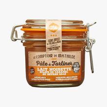 Pâte à tartiner lait noisette éclats de caramel au beurre salé Le Comptoir de Mathilde