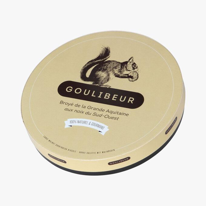 Boîte fer grande galette aux noix Goulibeur