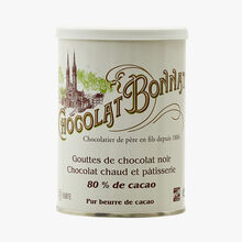 Dark chocolate drops, 80% cocoa Bonnat