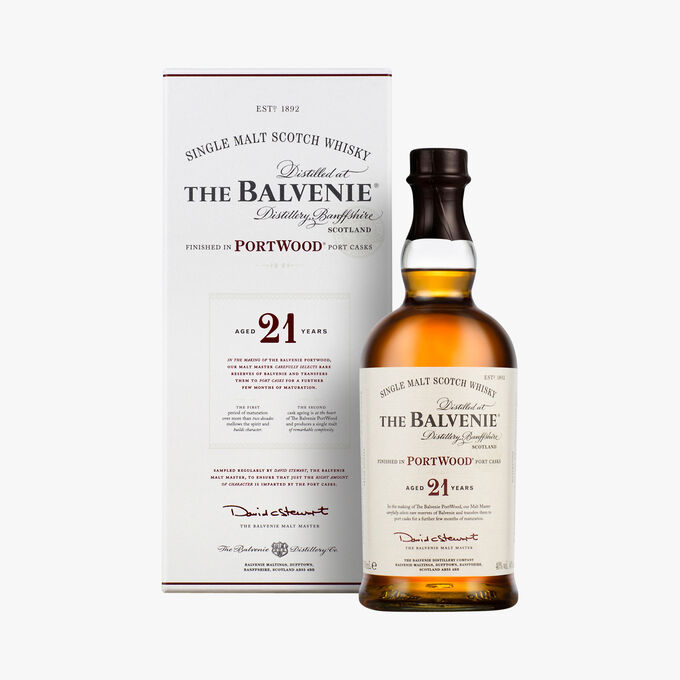 The Balvenie Portwood whisky, 21 years The Balvenie