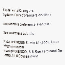 Eau de fleurs d'orangers Mymouné