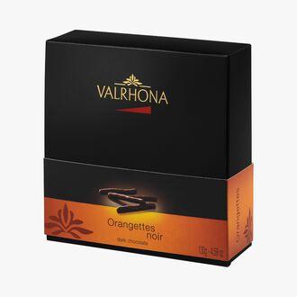 Box of dark chocolate orangettes Valrhona