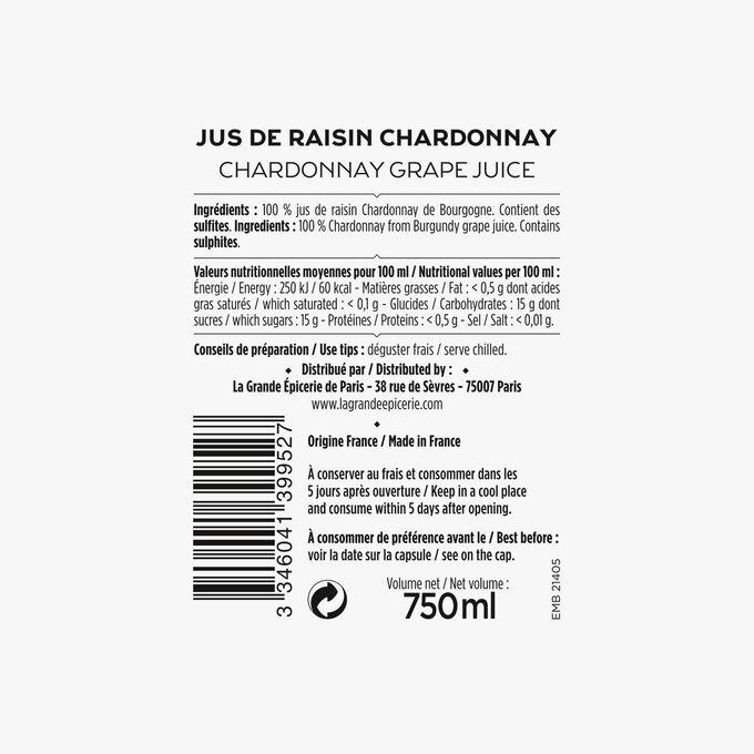 Le jus de raisin Chardonnay de Bourgogne La Grande Épicerie de Paris
