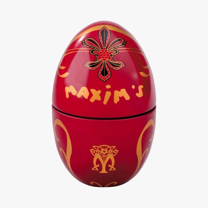 Œuf rouge chocolat au lait Maxim's