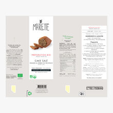 Organic savoury cake mixture with seeds and herbes de Provence Marlette
